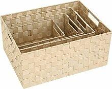 XMZ Outdoor/Indoor Aufbewahrungsbox, Garten Möbel, Rattan Aufbewahrungsboxen Speicherkästen 26 * 16 * 10 cm