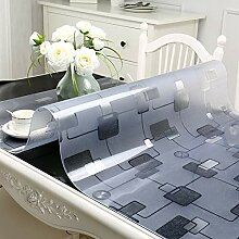 XMZDDZ Transparente PVC Tischdecke,Wasserdichte