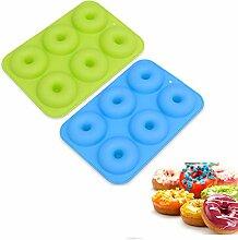XNFIVE 2 Pack Silikon Donutform, 6 Cavity Antihaft