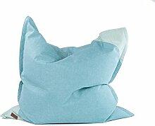 Xoft Living, Luxus XXL Sitzsack, aus Stoff, Formstabil, 135 x 135 cm (Blau)