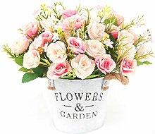 XONOR Künstliche Rosen Seidenblumen,