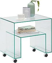 Xora BEISTELLTISCH rechteckig , Glas, 56x52x40 cm