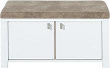 Xora GARDEROBENBANK Braun, Weiß , 92x41x49 cm
