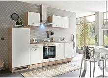 Xora Küchenblock , Weiß, Eiche , 1 Schubladen ,