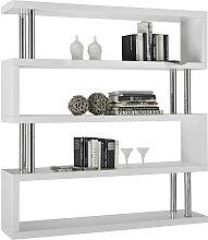 Xora REGAL Weiß, Chromfarben , Metall, 156x165x35