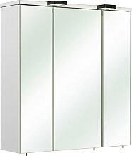 Xora SPIEGELSCHRANK Weiß , 6 Fächer, 65x70x20 cm