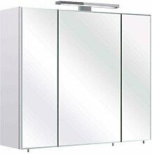 Xora SPIEGELSCHRANK Weiß , Glas, 70x60x20 cm