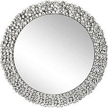 Xora WANDSPIEGEL , Silber , Glas , rund ,