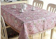 XOWP Tischdecke Tischdecke Stoff Tischdecke Spitze