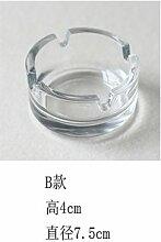 XOYOYO Bleifreies Glas Aschenbecher Aschenbecher