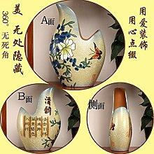 XoyoyoChinesische Keramik Schmuck TV-Schrank Anzeige verschieben Geschenk Home Ausstattung Wohnzimmer Einrichtung, Blau