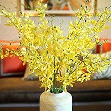 XOYOYO Das Gesamte Simulationsmodell Heimtextilien Blumen Blumenstrauß Blumen Aus Seide Anzug Esszimmer Dekoration Blumen, Gelb Honig Blauen Anzug (Ohne Vase)