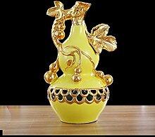 XoyoyoDas Wohnzimmer Dekoration Dekoration Wohnungseinrichtung vergoldete Hyazinthe Tv Cabinet Cabinet Keramik Werbegeschenke, Orientalische Calabash