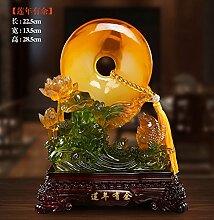 XOYOYO Die Hochzeit Geschenk Kreative Verzierungen Wohnzimmer Tv-Schrank Wein Neue Chinesische Heimtextilien Dekoratives Kunsthandwerk Frieden, Mehr Als 507 Jahre Vor