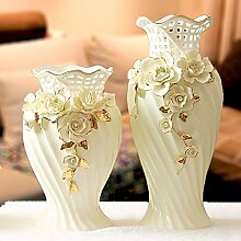 XOYOYO Die Modernen Hochwertigen Heimtextilien Dekor Keramik Vase Kunst Geschenk Zimmer Dekoration Dekoration Hochzeit Zimmer Soft Dekoration, 665 Niedrig In Gelb Vase