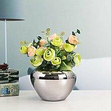 XOYOYO Drei Sätze Von Versilbert Keramik Vase