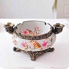 XOYOYO Europäische Aschenbecher kreative Dekoration Schreibtisch Ornamente Geburtstag Geschenk für Papa, Aschenbecher - Blumen