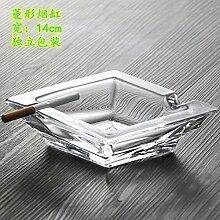 XOYOYO Europäische bleifreies Glas Aschenbecher