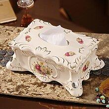 XOYOYO Europäische Keramik Papier Handtuch Box