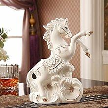 XOYOYO Keramik Kreative Heimtextilien Schmuck Dekorationen Pferd Tv Cabinet Cabinet Office Geschenke Basteln Dekoration Zimmer, Einen Absatz
