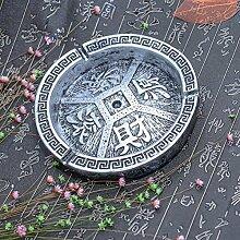 XOYOYO Kreative Persönlichkeit Aschenbecher Chinesischen Retro Ornamenten Freund Heimtextilien Geschenk Aschenbecher Bar Zimmer, Rolling (Silber)