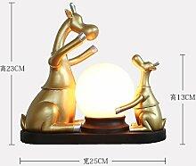 XOYOYO Nordic Kreative Hochzeit Geschenke Housewarming Geschenk Lampe Ornamente Rotwild Praktische Einrichtung Warme Dekoration, Goldene Xr-186