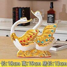 XOYOYO Swan Ornamente Hochzeit Geschenk Hochzeit
