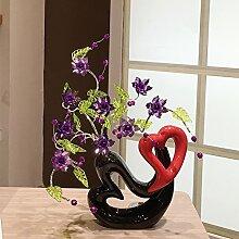 XOYOYO Tv-Schrank Dekoration Zimmer Eingang Crystal Flower Creative Home Ausstattung Minimalistisch Moderne Keramik, Viole