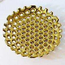 XOYOYO Versilbert Keramik Obstteller Heimtextilien Praktische Einrichtung Dekoration Moderner Schmuck, Neue Goldene Obstteller