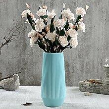 XOYOYO Weißer Keramik Vase Blume Blume Ornamente