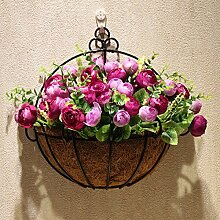 XPHOPOQ An der Wand hängenden Blumen künstliche Blumen Garten Hochzeit Dekoration Weihnachtsgeschenke Viole