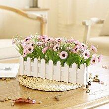 XPHOPOQ Der Zaun Künstliche Blumen idyllischen Hochzeit Party Urlaub Dekoration H
