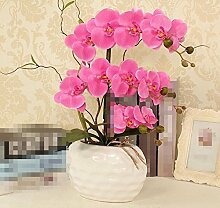 XPHOPOQ Esstisch Dekoration Hallenbad die Orchidee Kunststoff Blumen Topfpflanzen