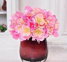 XPHOPOQ Hortensie Künstliche Blumen Innen Außen Garten Dekoration Mutter Tag Geschenke Rosa Hortensie