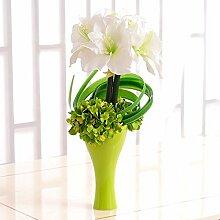 XPHOPOQ Keramik Vase moderner Stil Topfpflanzen künstliche Blumen Home Dekoration Geschenk Weiß