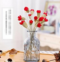 XPHOPOQ Landhausstil künstliche Blumen getrocknete Blumen Home Außenpool Garten Dekoration Q
