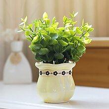 XPHOPOQ Minimalistisch koreanischen Stil Home Dekoration künstlichen Blumen und Pflanzen Grün