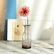 XPHOPOQ Moderne Stil Künstliche Blumen Chrysantheme Glas Vase stilvoll Dekoration Essen Tisch Rosa