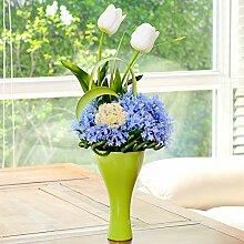 XPHOPOQ Moderne Stil Kunststoff Blumen Künstliche Blume Kit Home Indoor Wohnen Zimmer Dekoration Geschenke Ro