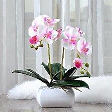 XPHOPOQ Moderner Stil künstliche Blumen Orchideen Esstisch Außenpool Garten Hochzeit Dekoration Rosa