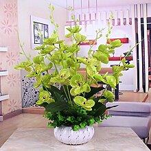 XPHOPOQ Real Touch künstliche Blumen Phalaenopsis dekorative Blumen Hochzeit Home Party Garten Dekoration Grün