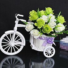 XPHOPOQ Silk Blume künstliche Blumen American Style Home Wohnzimmer Dekoration Grüne Rose