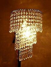 Xpro LED Kristall Wandleuchte lihting 2Leuchtmittel E14TRANSPARENT Kristall Silber Rahmen Esszimmer Flur Innen Licht sconces Beschläge New Arrival warmweiß