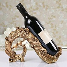 XPY&DGX Weinregale?European Bronze Regal, Resin Wine Rack, Home Decoration Crafts, Glass Shelf 170 mm