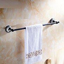 XPY-Towel rack Einpolig Badezimmer Hardware schwarz