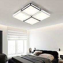 XQK Deckenlampe Deckenleuchte led Wohnzimmer Lampe schmiedeeiserne Deckenleuchte Art style Dekorative rechteckige Schalter Intelligent Light 62 * 62 cm