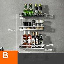 XQY Eckregal Küche Lagerregale 304 Edelstahl