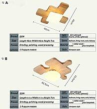 XQY Home Schlafzimmer Deckenleuchte, Led Holz