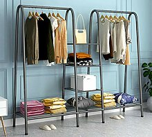 XQYPYL Kleiderständer mit 4 Ablage, Metall,