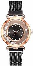 XQZ Damenuhren, Damen Magnet Schnalle Strass Uhr